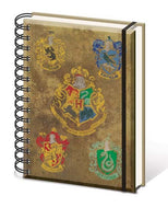 Harry Potter - Hogwart's Crests - Spiral Notebook