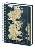 Game Of Thrones - Map Of Westeros - A5 Spiral Notebook