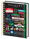 Friends - Infographic - Spiral Notebook