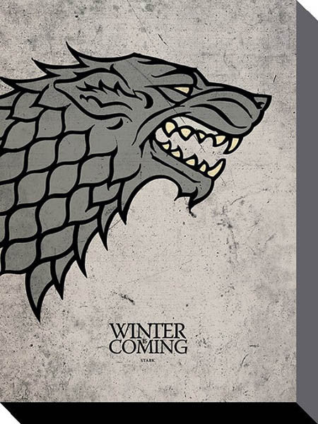 Canvas - Game of Thrones - Stark Sigil - 30cm x 40cm