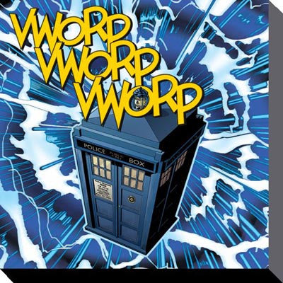 Dr Who - Tardis Vworp - Canvas - 40cm x 40cm