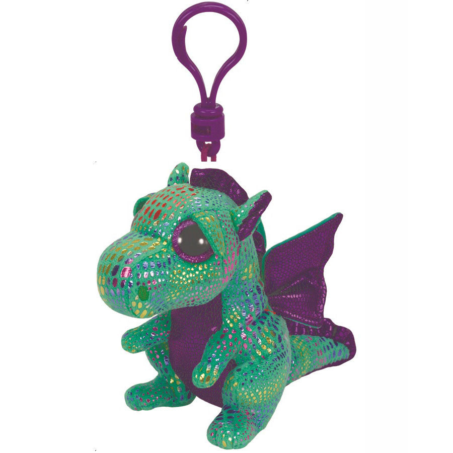 Ty Beanie Boos Clips - Cinder the green dragon