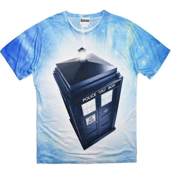 Dr Who Tardis T-Shirt (Blue/White)