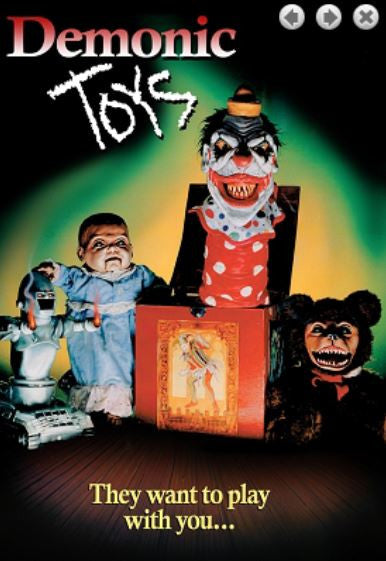 Demonic Toys DVD (RATED M)