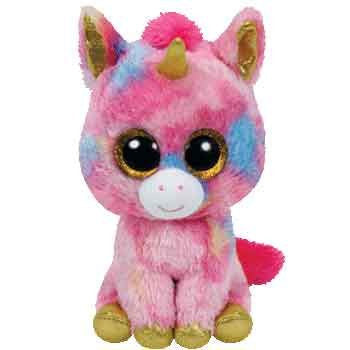 Ty Beanie Boos Medium - Fantasia the multicoloured unicorn
