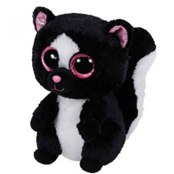 Ty Beanie Boos Regular - Flora the black/white skunk