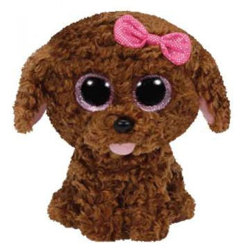 Ty Beanie Boos Regular - Maddie the brown dog with bow