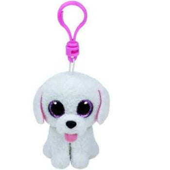 Ty Beanie Boos Clips - Pippie the white dog