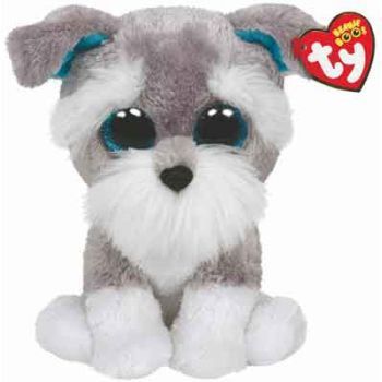 Ty Beanie Boos Medium - Whiskers the grey schnauzer dog