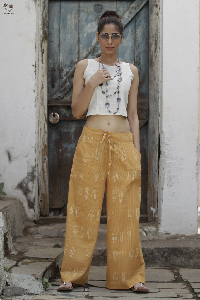 QoH Drawstring Pants Yellow Ice Candy