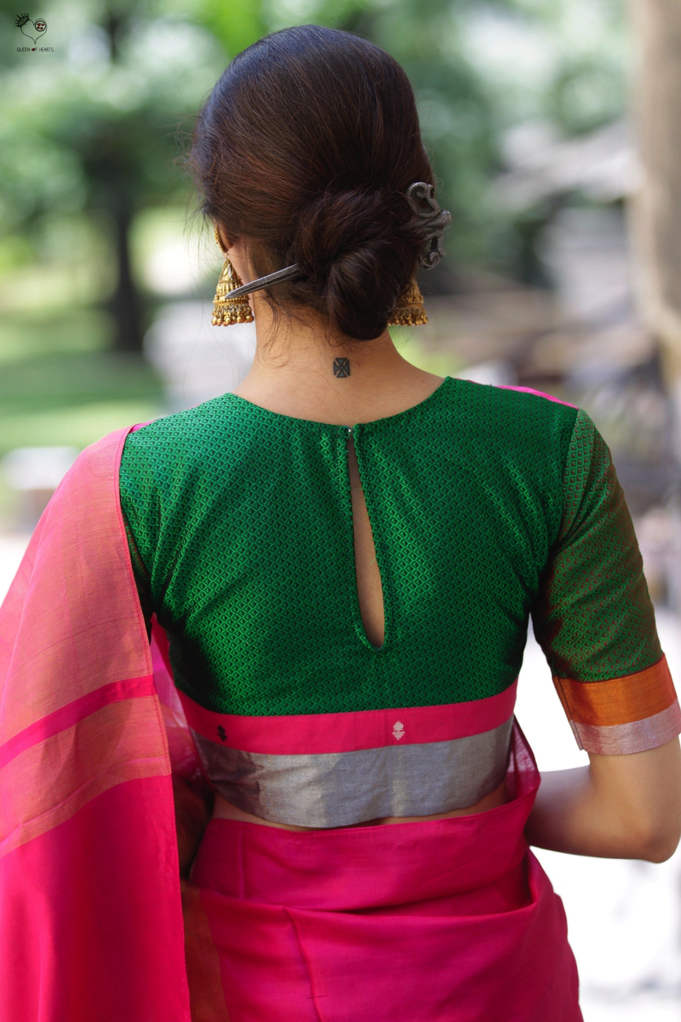 Shades of Pink and Green Katori Blouse