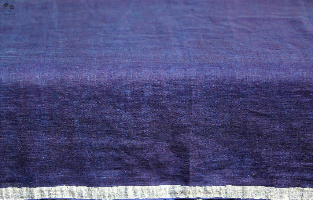 The QoH Right Angle Saree 2 Indigo Blue