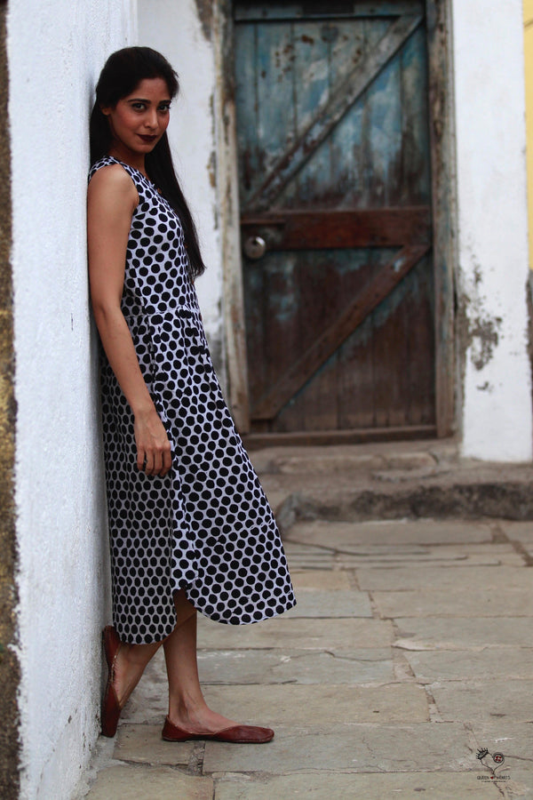 Black & White Polka Dots Piku Dress