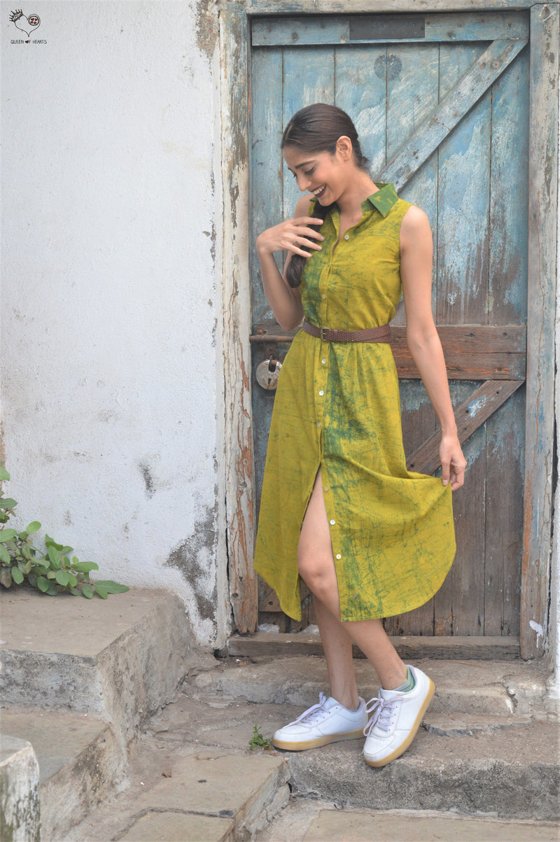 Mango Green Tie Dye Piku Dress