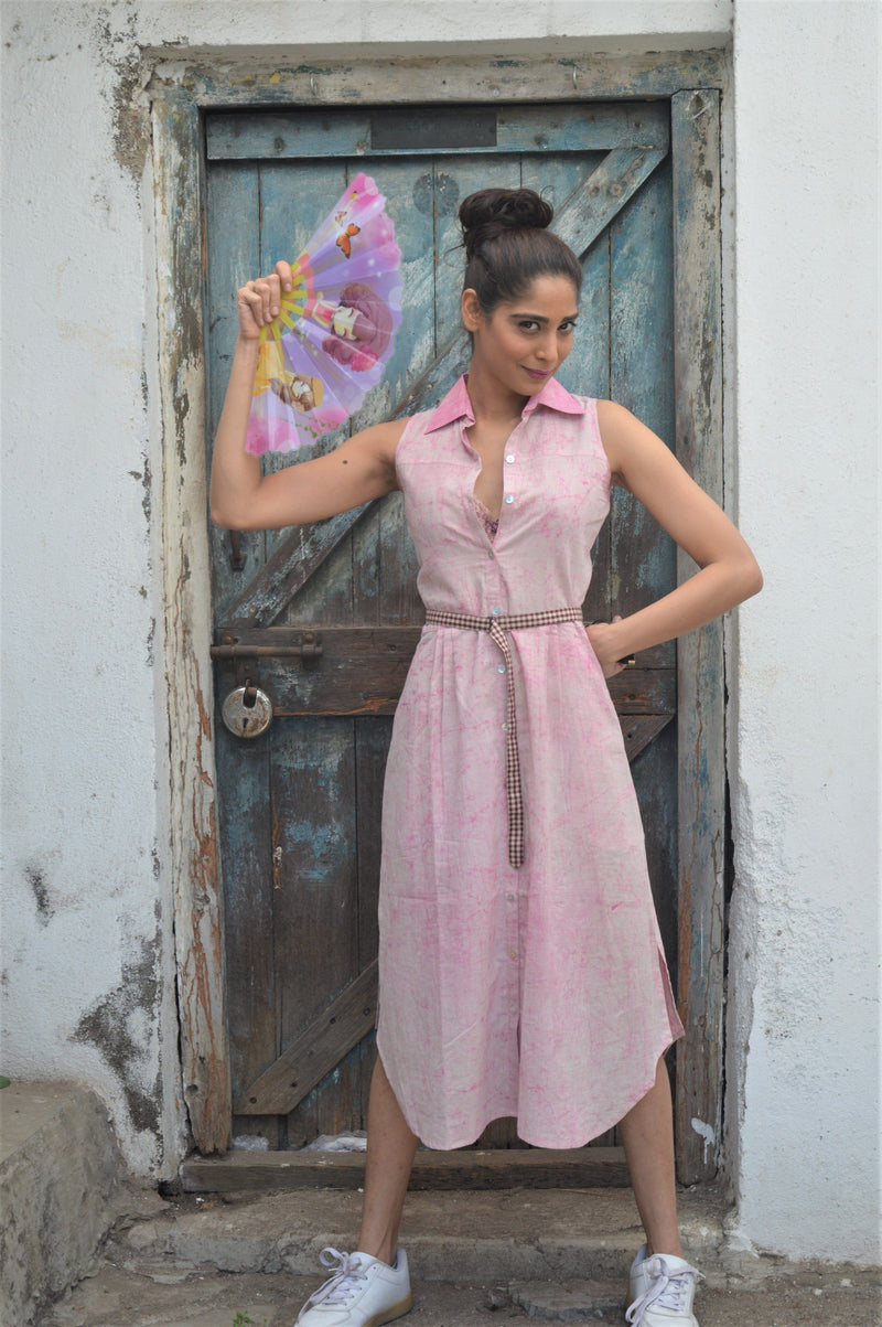 Candy Pink Tie Dye Piku Dress