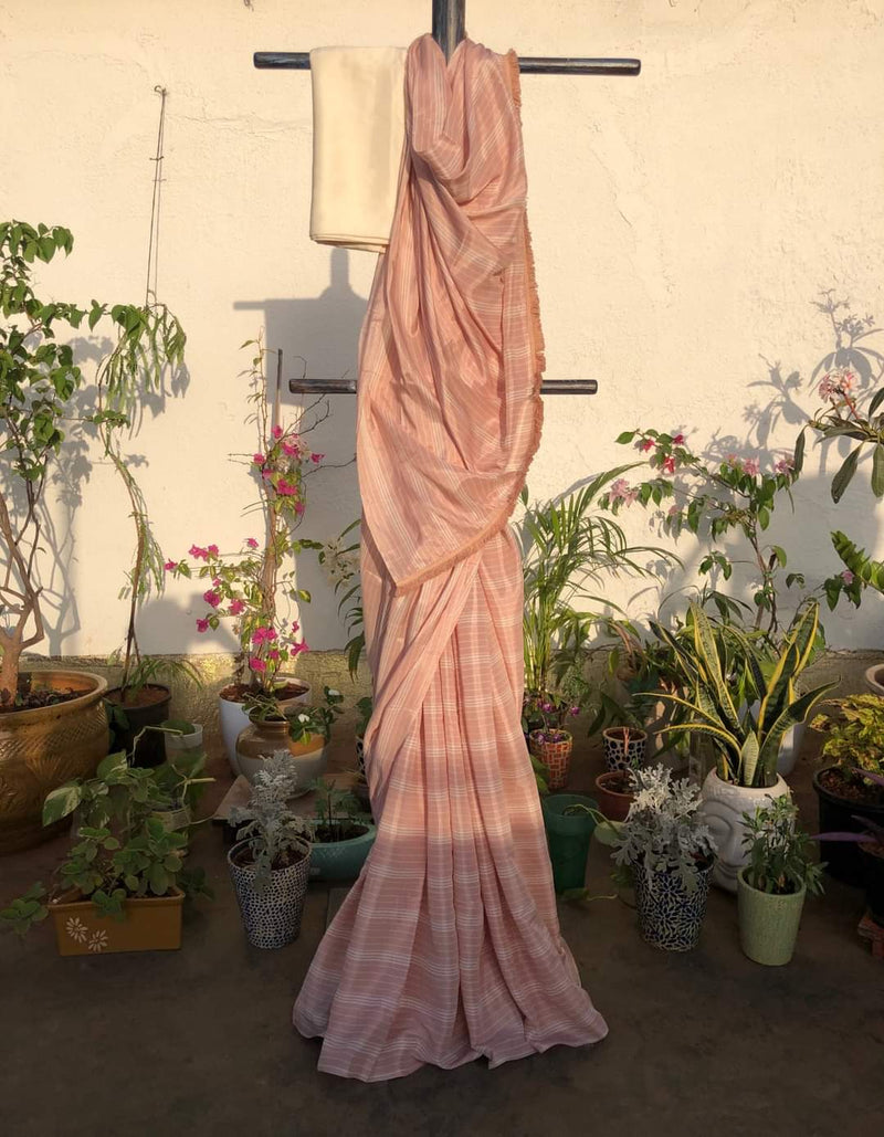 Easy Breezy Summer Saree - Pink Flare
