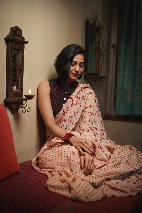 The Ice Cream Saree - Malt and Cherries