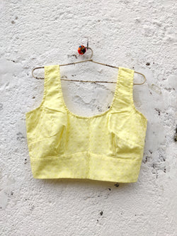 Gulshan Sleeveless Blouse - Buttercup Yellow