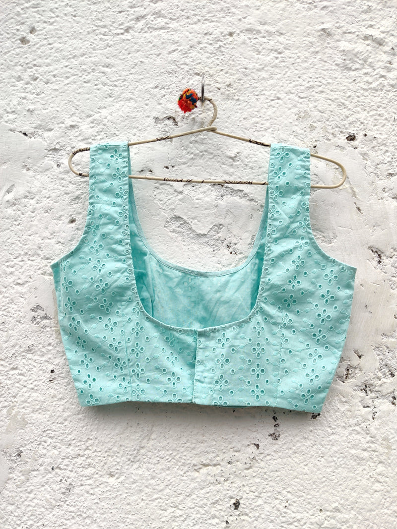 Gulshan Sleeveless Blouse - Mint Green