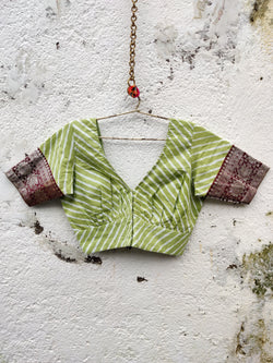 Nur Jehan Blouse - Olive Green
