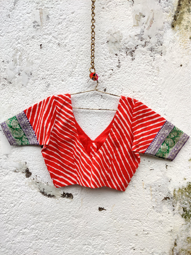 Nur Jehan Blouse - Tomato Red