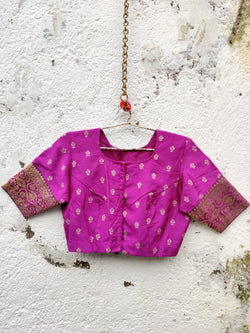 The Nur Jehan Blouse - Magenta Pink