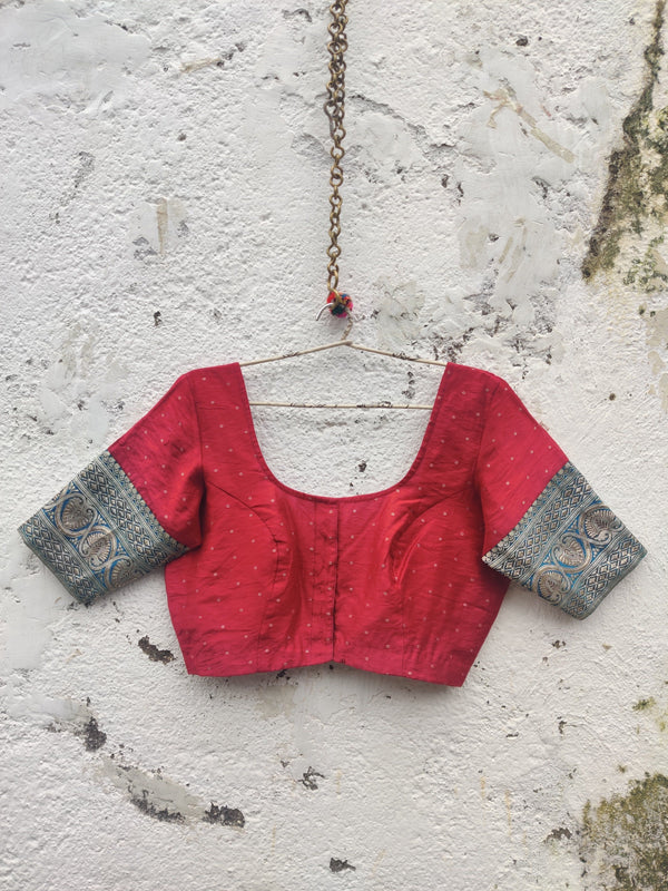 The Nur Jehan Blouse - Ruby Red