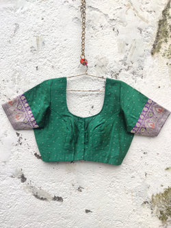 The Nur Jehan Blouse - Emerald Green