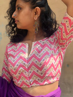 The Zigzag blouse - Bright Pink