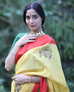 Classic Yellow/Red Devi Saree