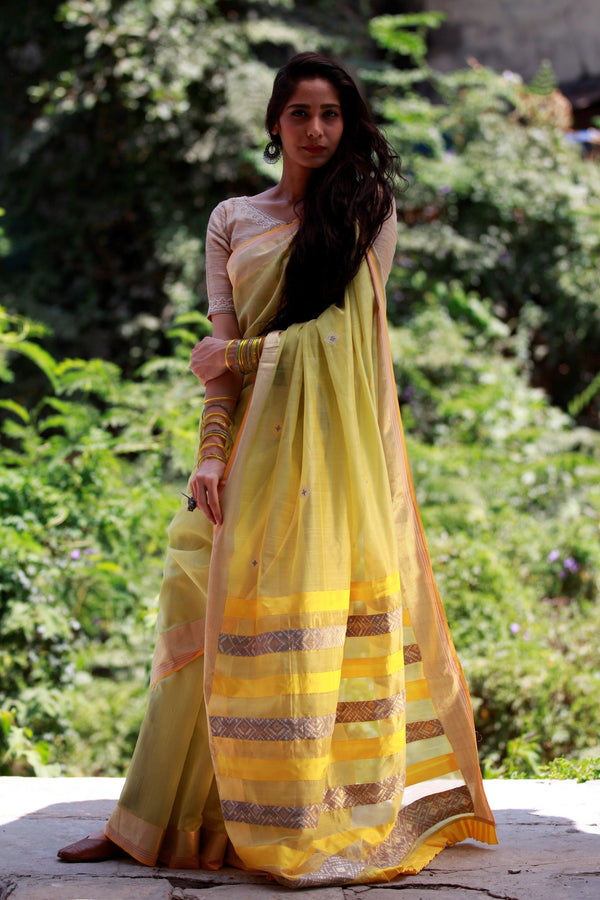 Colours of Maheshwar - Lemon Yellow