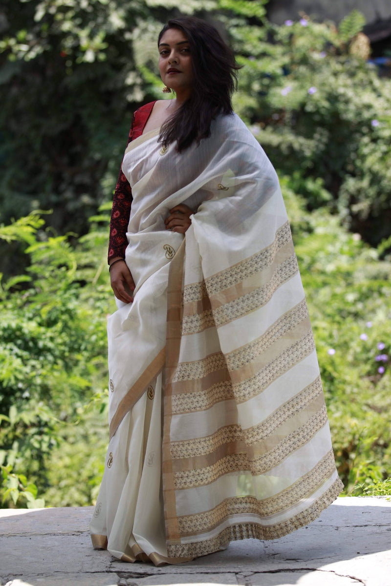 Colours of Maheshwar - Pearl White