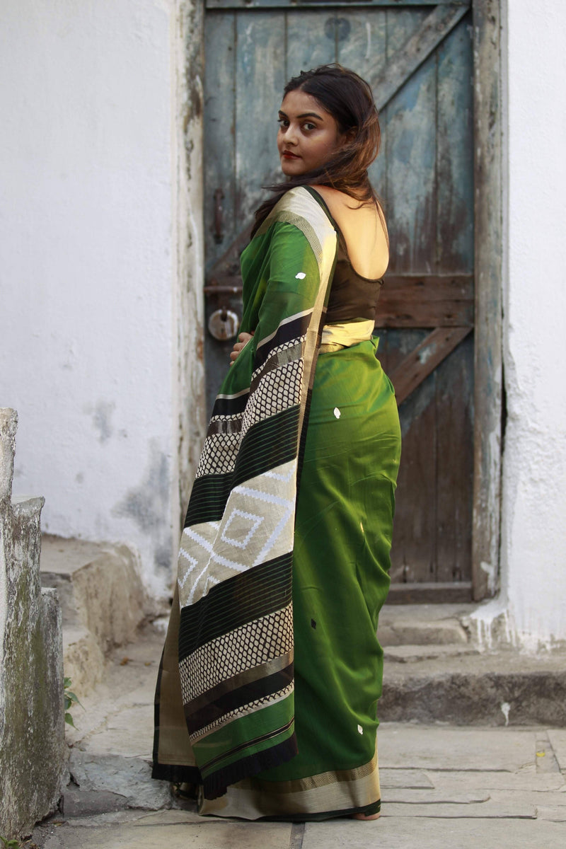 Colours of Maheshwar - Basil Green