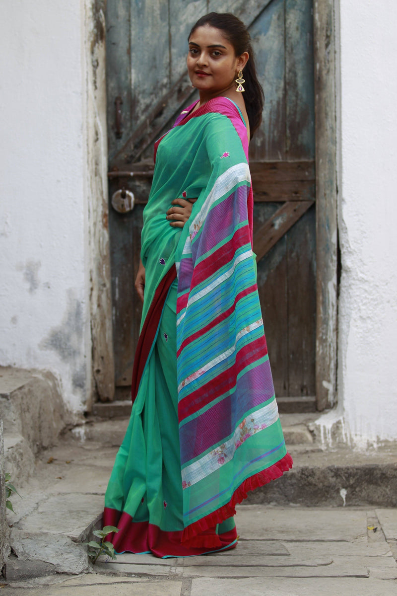 Colours of Maheshwar - Seafoam Green