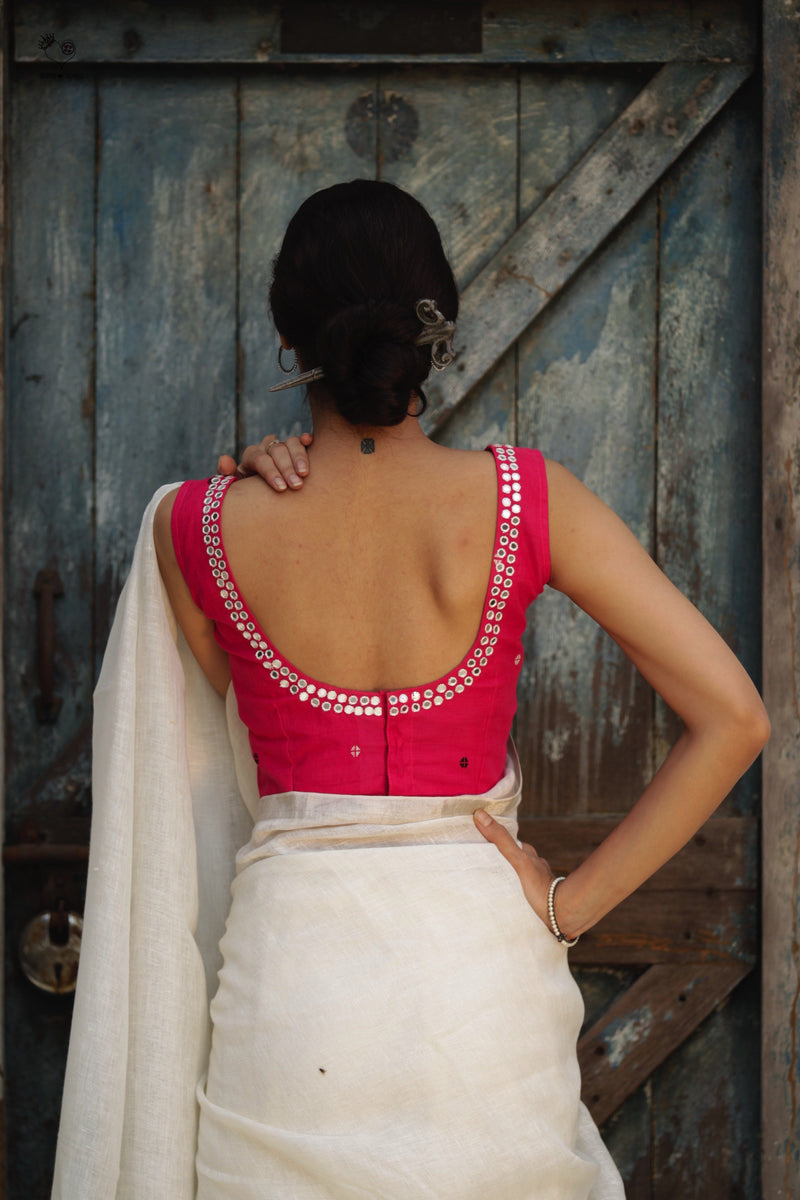 Mirror Cotton Blouse Rani Pink