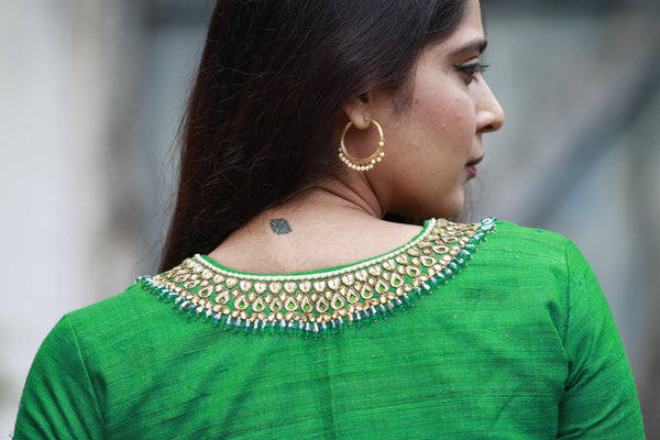 Necklace Blouse - Emerald Green