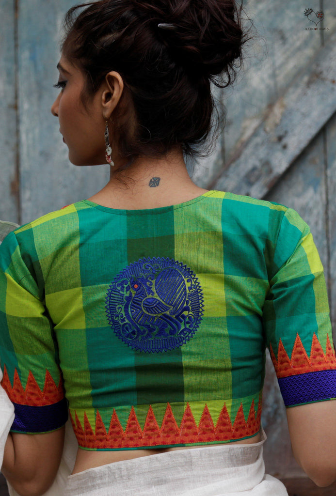 The Annapakshi Blouse Shades of Green