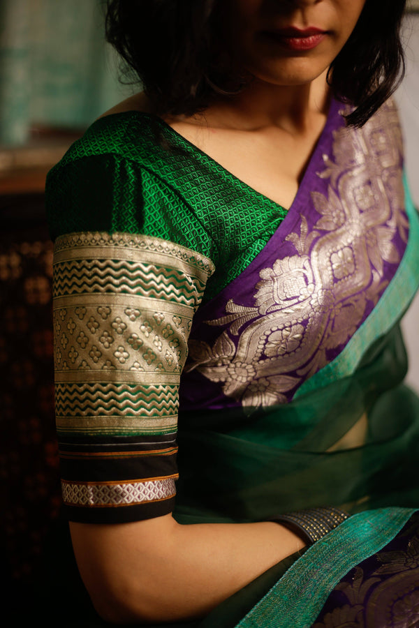 The Nur Jehan Blouse - Glass Bangle Green.