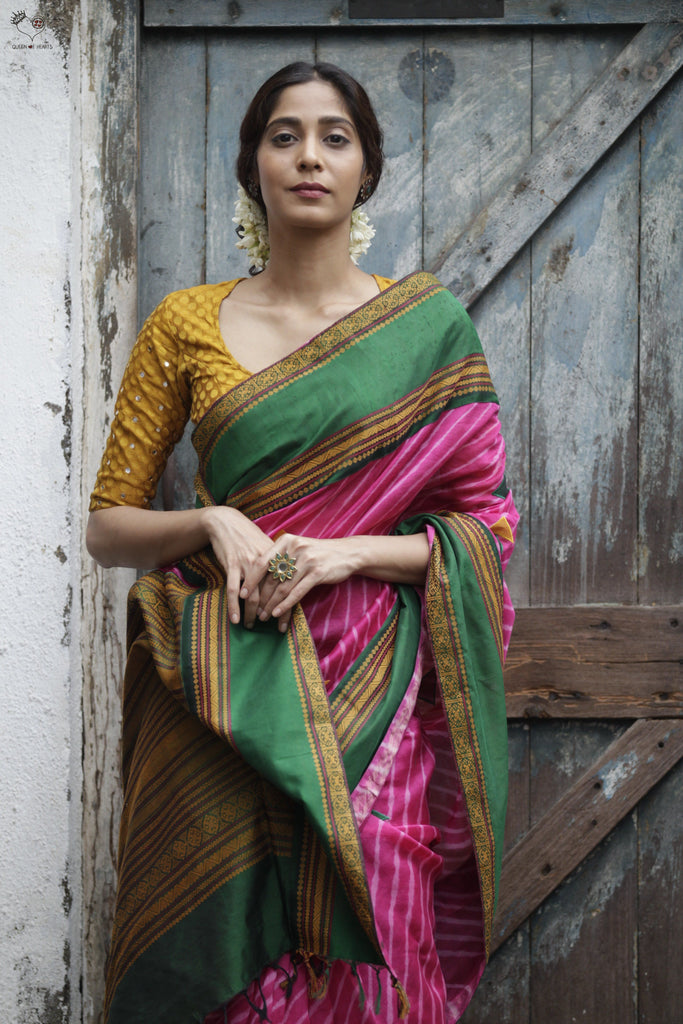 The Sivagami Saree Hot Pink