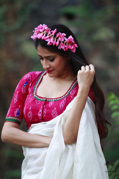 Pink Ikat Cotton Kala Ghoda Blouse
