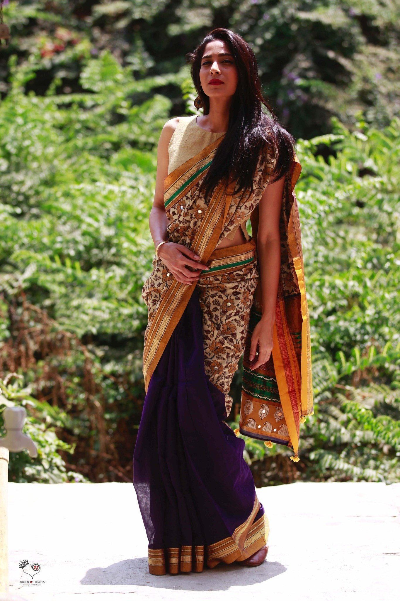 Deep Purple Handwoven Irkal Saree