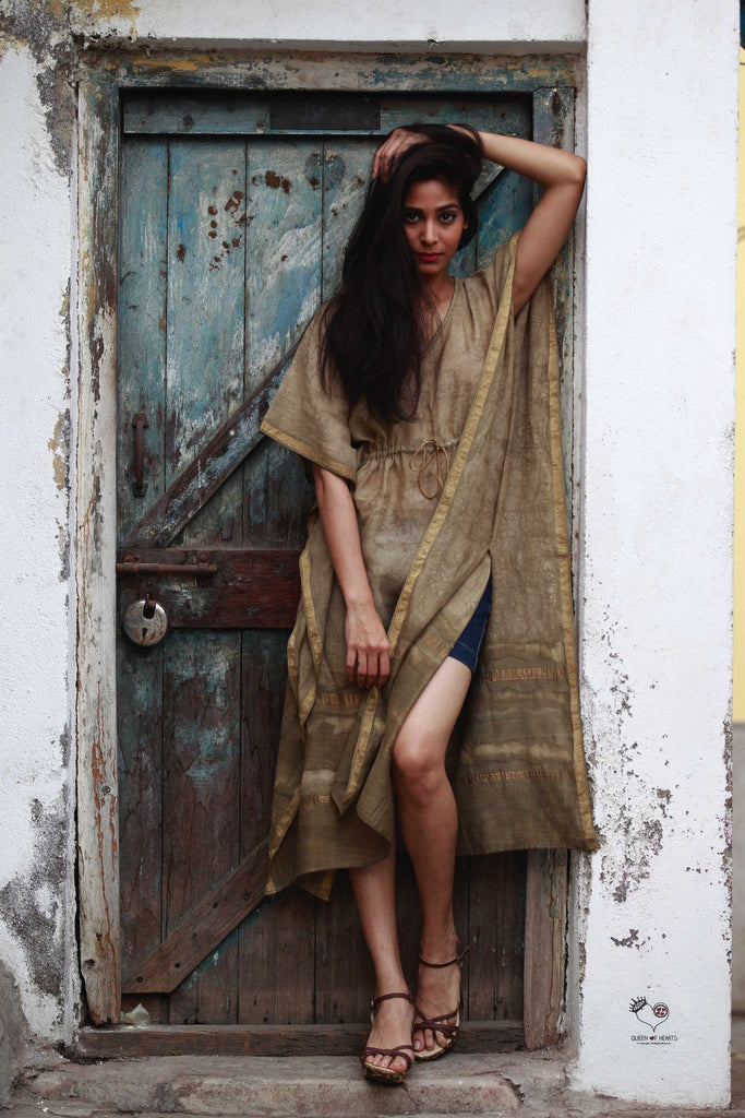 Kashish Brown Maheshwari Kaftan
