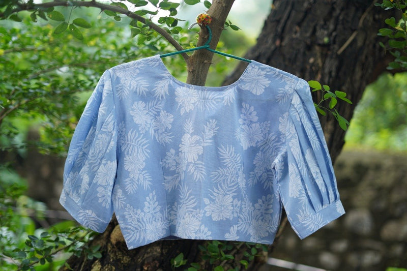 The Pastel Puff Blouse - Blue