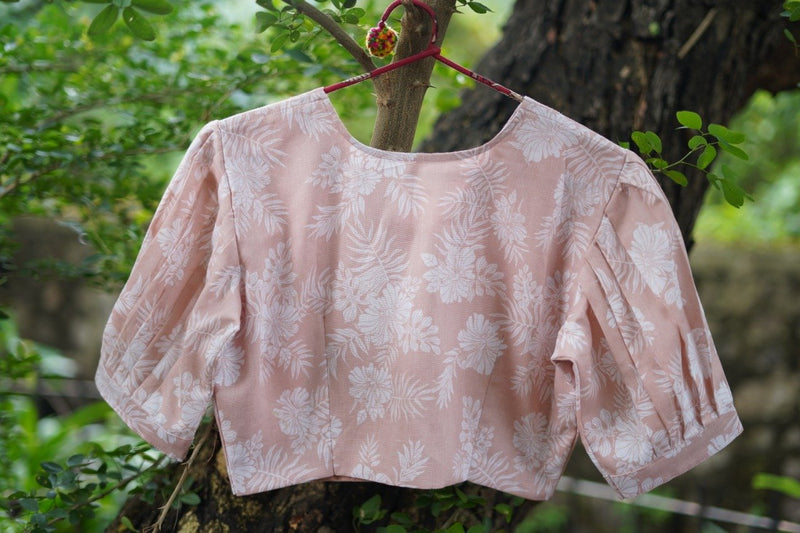 The Pastel Puff Blouse - Peach