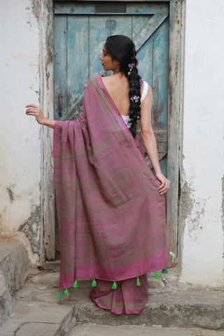 Lilac Green Amala Saree