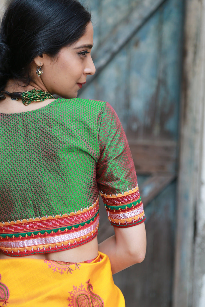 Shades of Green Khun Mogra Blouses