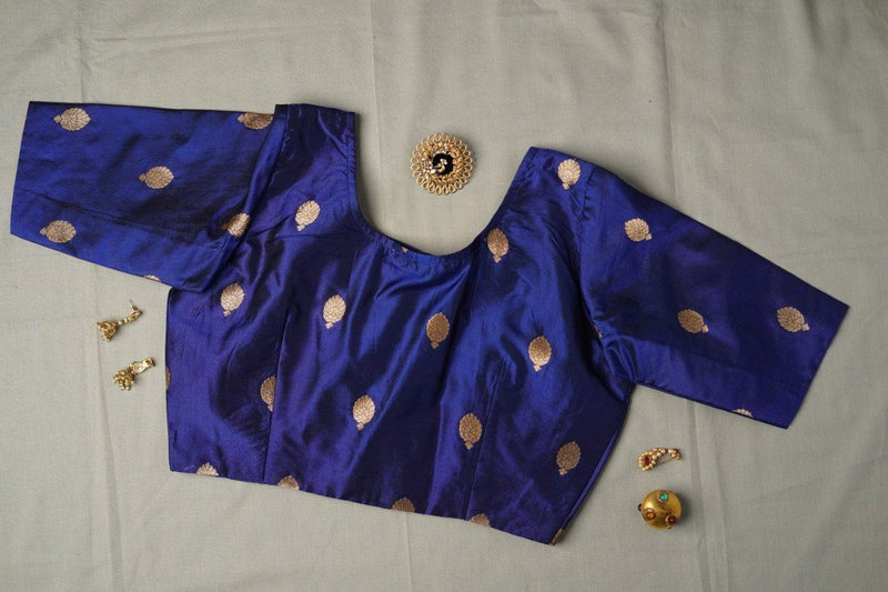 The Sadhana blouse-Electric Blue
