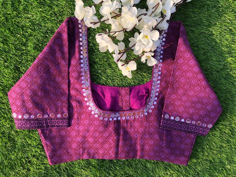 Mirror Blouse - Lilac Maroon