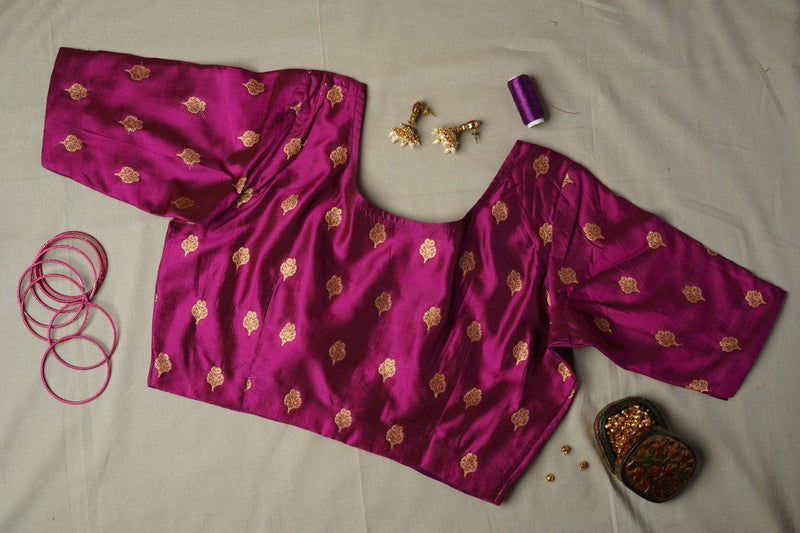 The Sadhana blouse-Magenta 1
