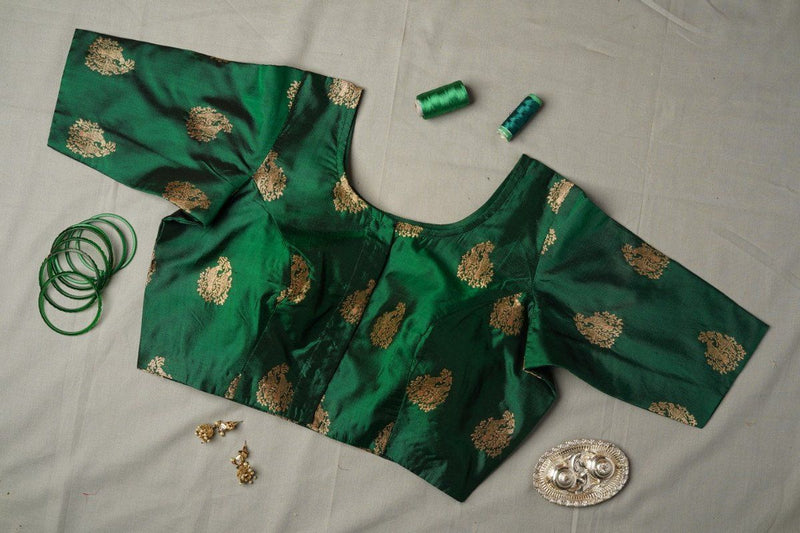 The Sadhana blouse-Bangle Green